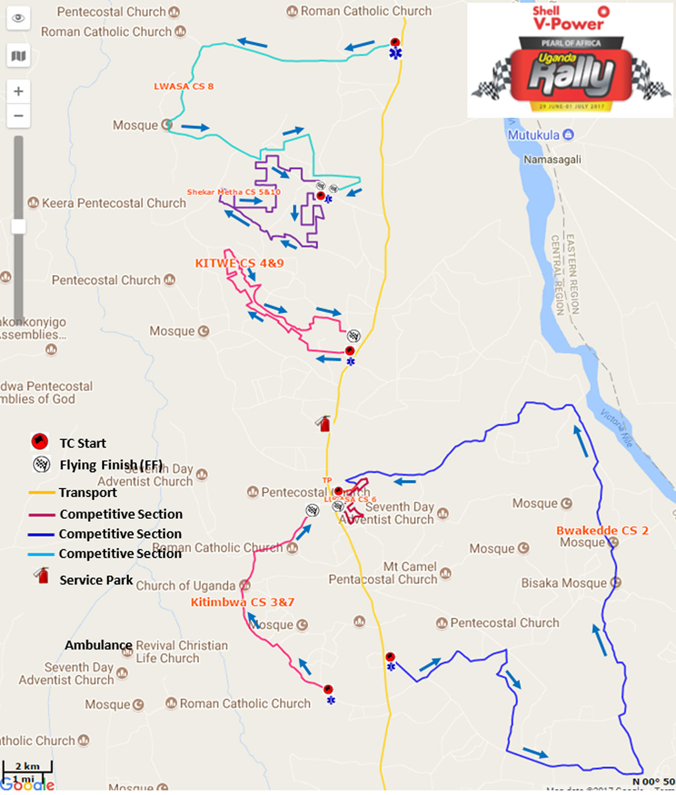 2017 POAUR Route Map