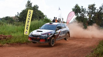 Hassan Alwi  flying in his subaru Impereza N15. PHOTO By Kinthan Images