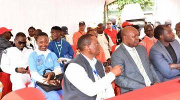 Sports minister Charles Bakabullindi and former FMU President George