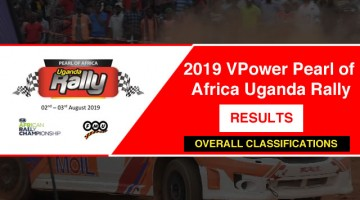 Overal Results Pearl Rally 2019